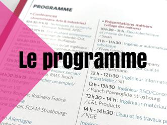 Le programme du Forum